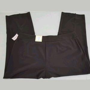 NWT Dressbarn Career Pants Tummy Control Brown 24W